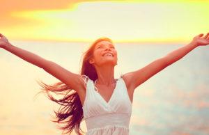 Femme en train de lacher-prise